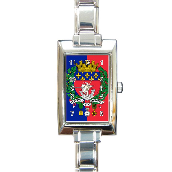 Flag of Paris  Rectangle Italian Charm Watch