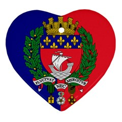 Flag Of Paris  Ornament (heart) by abbeyz71