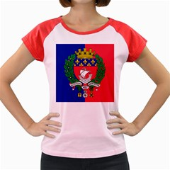 Flag Of Paris  Women s Cap Sleeve T-shirt by abbeyz71