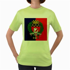 Flag Of Paris  Women s Green T-shirt by abbeyz71