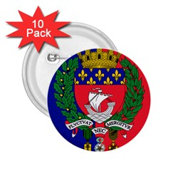 Flag of Paris  2.25  Buttons (10 pack)