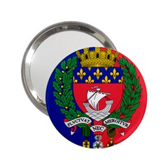 Flag Of Paris  2 25  Handbag Mirrors