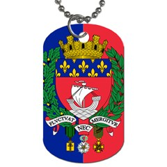 Flag of Paris  Dog Tag (One Side)