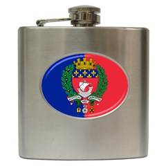 Flag Of Paris  Hip Flask (6 Oz) by abbeyz71