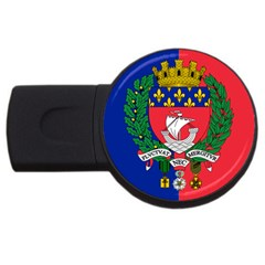 Flag Of Paris  Usb Flash Drive Round (2 Gb) by abbeyz71