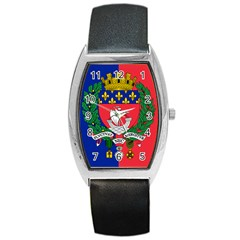 Flag Of Paris  Barrel Style Metal Watch by abbeyz71