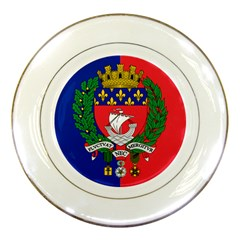 Flag Of Paris  Porcelain Plates by abbeyz71