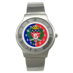 Flag Of Paris  Stainless Steel Watch by abbeyz71