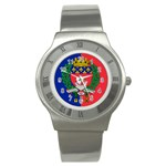 Flag of Paris  Stainless Steel Watch Front