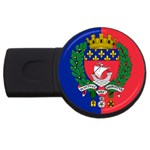 Flag of Paris  USB Flash Drive Round (4 GB) Front