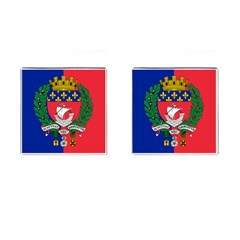 Flag Of Paris  Cufflinks (square) by abbeyz71
