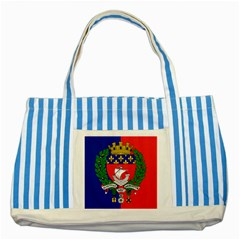 Flag Of Paris  Striped Blue Tote Bag by abbeyz71