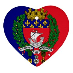 Flag of Paris  Heart Ornament (Two Sides)