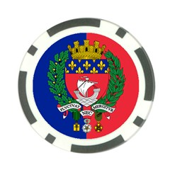 Flag of Paris  Poker Chip Card Guard