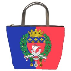 Flag Of Paris  Bucket Bag by abbeyz71
