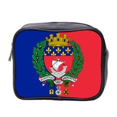 Flag Of Paris  Mini Toiletries Bag (two Sides) by abbeyz71
