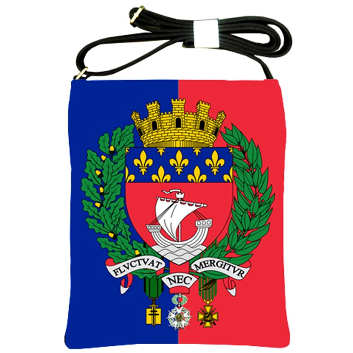 Flag of Paris  Shoulder Sling Bag