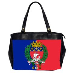 Flag Of Paris  Oversize Office Handbag (2 Sides) by abbeyz71