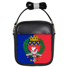 Flag Of Paris  Girls Sling Bag by abbeyz71