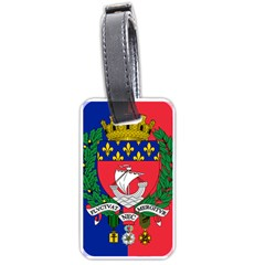 Flag Of Paris  Luggage Tag (two Sides)