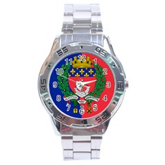 Flag Of Paris  Stainless Steel Analogue Watch by abbeyz71