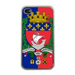 Flag of Paris  iPhone 4 Case (Clear) Front