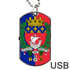 Flag Of Paris  Dog Tag Usb Flash (two Sides) by abbeyz71