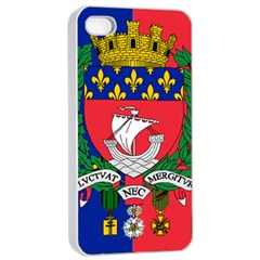 Flag Of Paris  Iphone 4/4s Seamless Case (white)