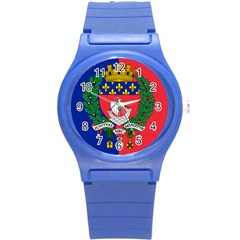 Flag Of Paris  Round Plastic Sport Watch (s) by abbeyz71