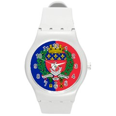 Flag Of Paris  Round Plastic Sport Watch (m) by abbeyz71