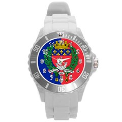 Flag Of Paris  Round Plastic Sport Watch (l) by abbeyz71