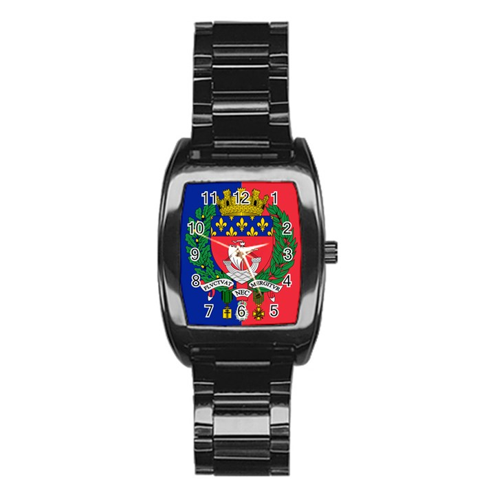 Flag of Paris  Stainless Steel Barrel Watch