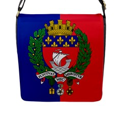 Flag Of Paris  Flap Closure Messenger Bag (l) by abbeyz71