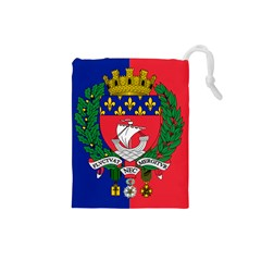 Flag Of Paris  Drawstring Pouch (small) by abbeyz71