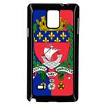 Flag of Paris  Samsung Galaxy Note 4 Case (Black) Front