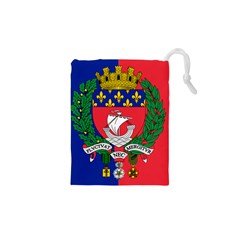 Flag of Paris  Drawstring Pouch (XS)