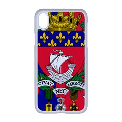 Flag of Paris  iPhone XR Seamless Case (White)