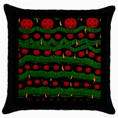 Pumkin Time Maybe Halloween Throw Pillow Case (black) by pepitasart