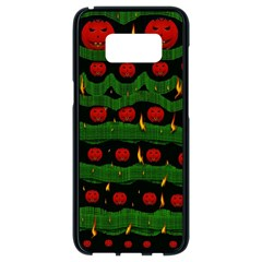 Pumkin Time Maybe Halloween Samsung Galaxy S8 Black Seamless Case by pepitasart