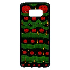 Pumkin Time Maybe Halloween Samsung Galaxy S8 Plus Black Seamless Case by pepitasart