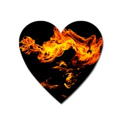 Can Walk On Fire, Black Background Heart Magnet by picsaspassion