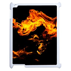 Can Walk On Fire, Black Background Apple Ipad 2 Case (white) by picsaspassion