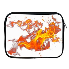 Can Walk On Volcano Fire, White Background Apple Ipad 2/3/4 Zipper Cases by picsaspassion