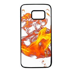 Can Walk On Volcano Fire, White Background Samsung Galaxy S7 Black Seamless Case by picsaspassion