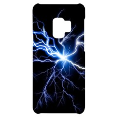 Blue Thunder Colorful Lightning Graphic Impression Samsung S9 Black Uv Print Case by picsaspassion