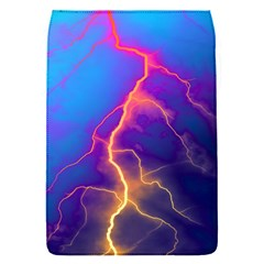 Blue Lightning Colorful Digital Art Removable Flap Cover (s)