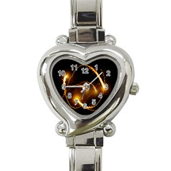 Flying Comets In The Cosmos Heart Italian Charm Watch