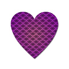 Pattern Texture Geometric Patterns Purple Heart Magnet by Jojostore
