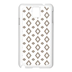 Background Texture Triangle Samsung Galaxy Note 3 N9005 Case (white)