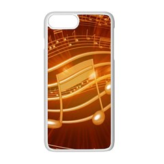 Music Notes Sound Musical Love Iphone 8 Plus Seamless Case (white)